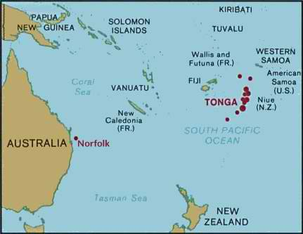 Spearfishing Trips Tonga Spearfishing Diving Trip - Tonga map